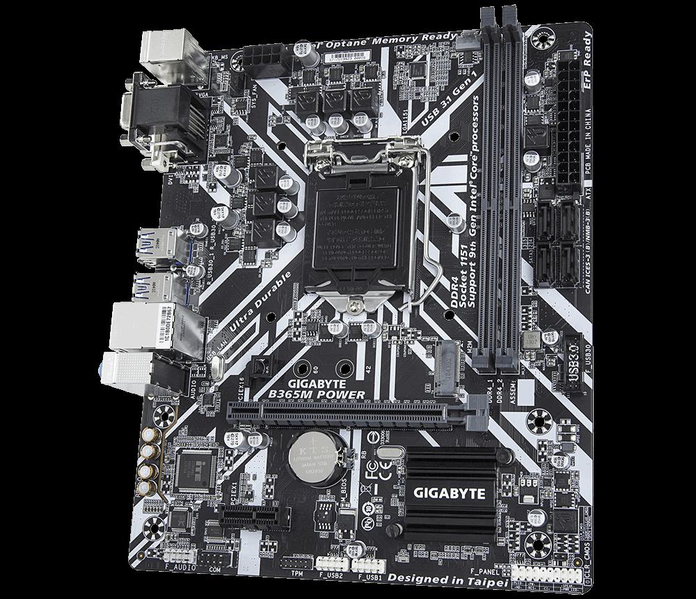 技嘉 B365M POWER主板LGA1151/DDR4 带M.2 DVI+VGA WIN10 支持789代U
