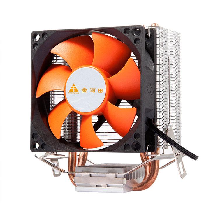 金河田 北极玄冰600 双铜管CPU散热器 8CM静音风扇 AMD Intel通用