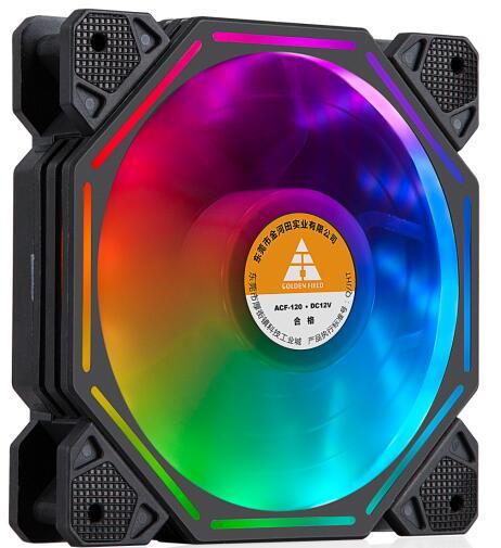 包邮金河田 星钻F01RGB 炫光电竞八边形12CM静音台式机箱风扇