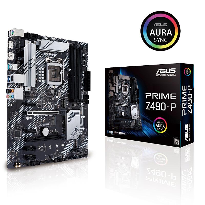 Asus/华硕 PRIME Z490-P Z490 大板 主板 1200十代 支持 i910900k