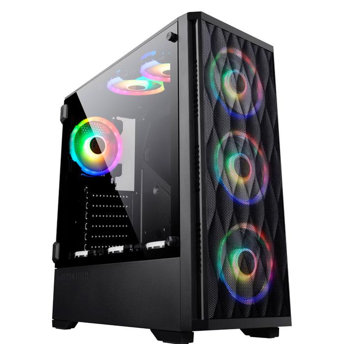 金河田Z20钻石版电脑台式钢化玻璃水冷机箱背线DIY游戏atx机箱