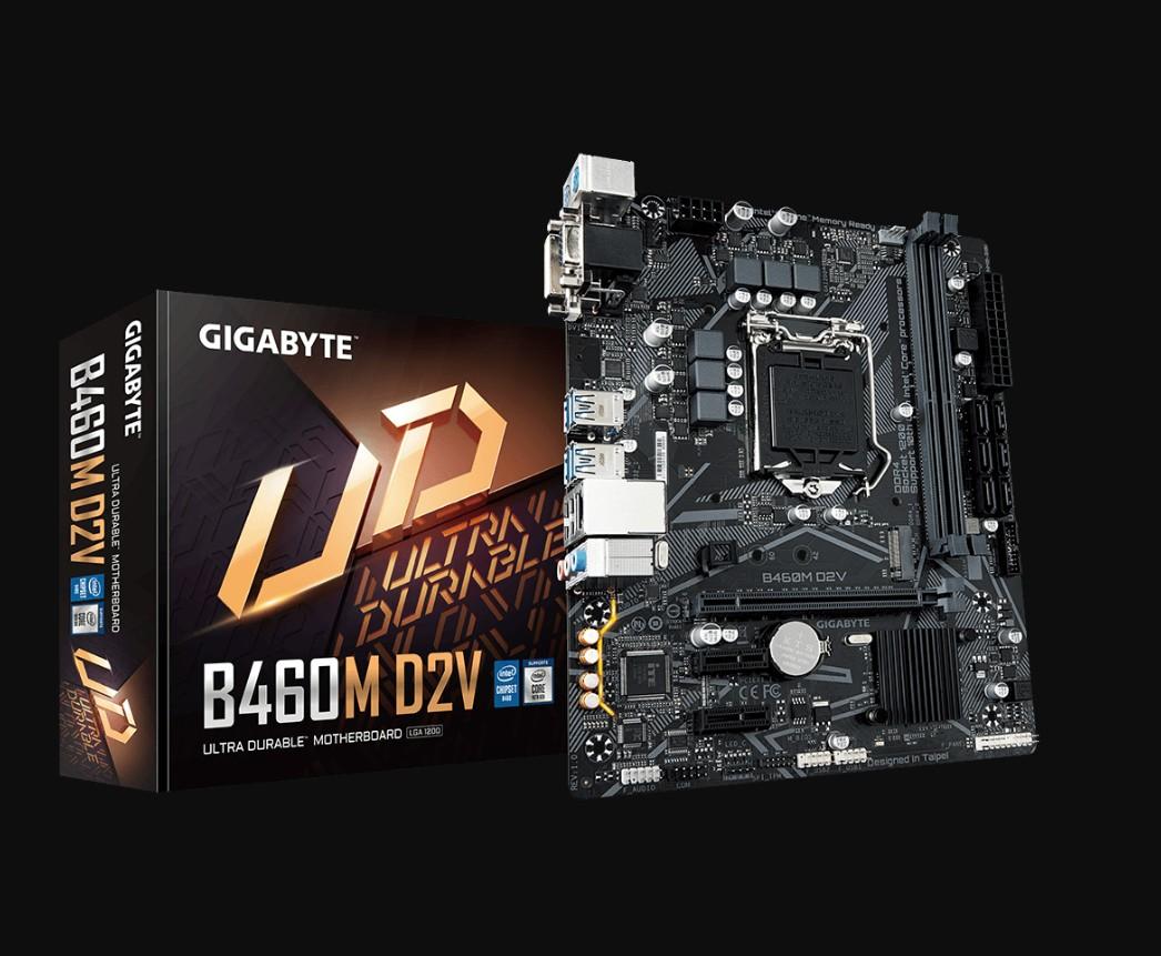 技嘉 B460M D2V 台式电脑游戏主板十代LGA1200针