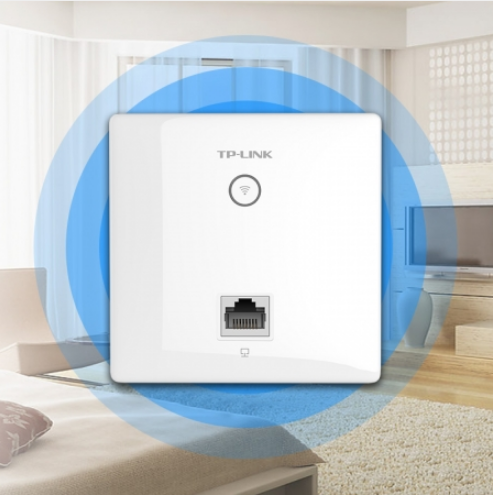 TP-LINK TL-AP1202I-POE薄款入墙无线ap面板嵌入式家用无线wifi路由器大功率高速穿墙王双频室内无线覆盖POE供电
