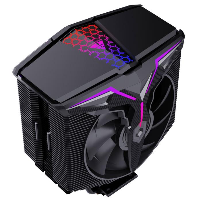 金河田风行RGB灯神光同步智能温控多平台CPU散热器4铜管6铜管散热风扇